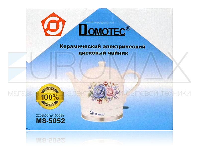 Электрочайник керамический 1,5л 1500Вт Domotec MS-5052