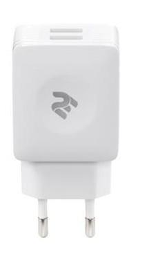 З/у сетевое 2E USB Wall Charger 2 USB 5V/2.1A white (2E-WC4USB-W) EAN/UPC: 680051627410