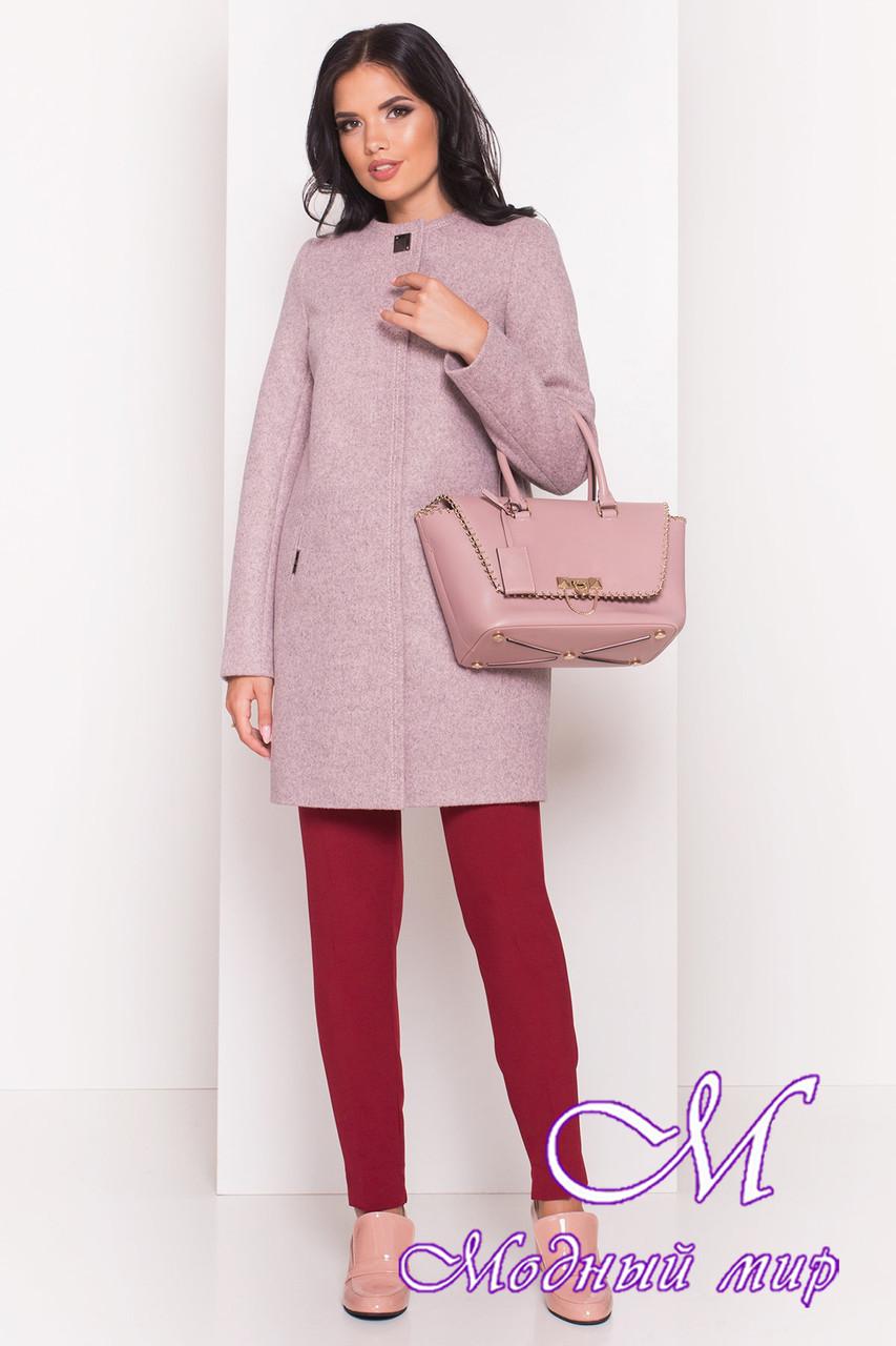 Женское серо-розовое осеннее пальто (р. S, M, L) арт. Ферран 5369 - 36593
