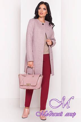 Женское серо-розовое осеннее пальто (р. S, M, L) арт. Ферран 5369 - 36593, фото 2