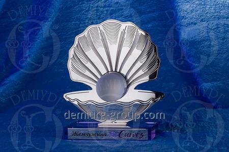 """Награда из металла и стекла """"Жемчужина FitCurves"""""""