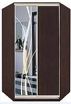 Угловой шкаф-купе ДСП + зеркало + пескоструй на 1 двери, фото 2
