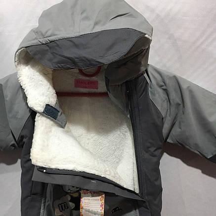 Детский тёплый комбинезон для мальчика 6 мес-1 года, фото 2