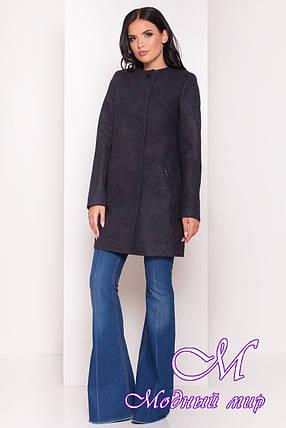 Женское темно-синее осеннее пальто (р. S, M, L) арт. Ферран 5369 - 36594, фото 2