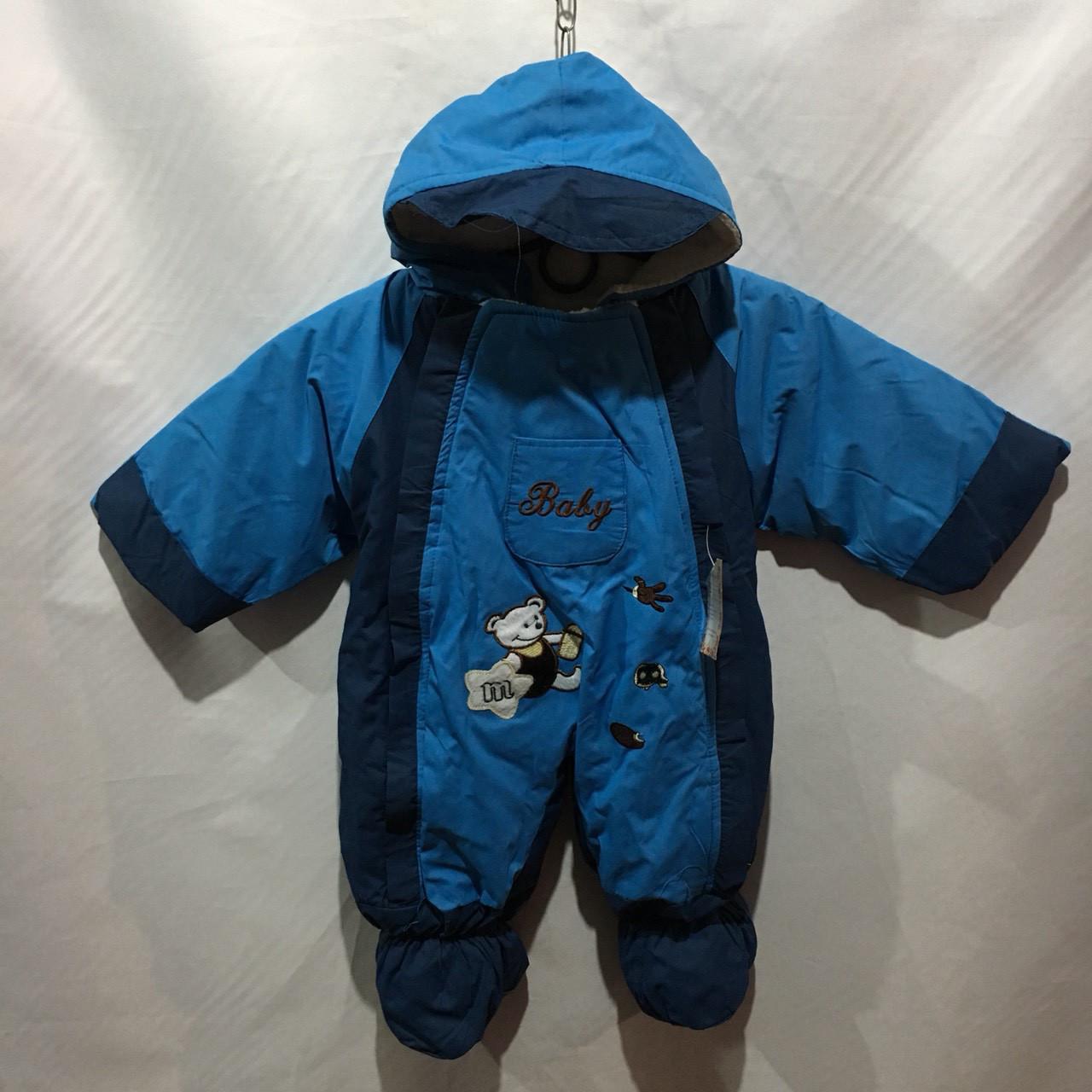 Детский тёплый комбинезон для мальчика 6 мес-1 года