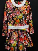 Яркие цветные платья из трикотажа для девочек., фото 1