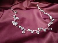 Веточка с хрусталиками для свадебной и вечерней прически, фото 1
