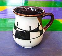 """Горнятко чайне, декор """"Галаретка"""" чорно-біле"""