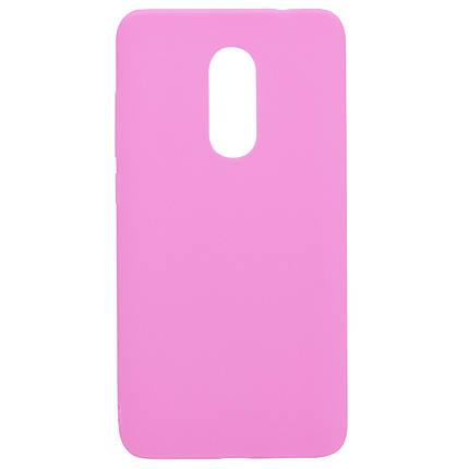 Силиконовый чехол Candy для Xiaomi Redmi Note 4X / Note 4 (SD) Розовый, фото 2