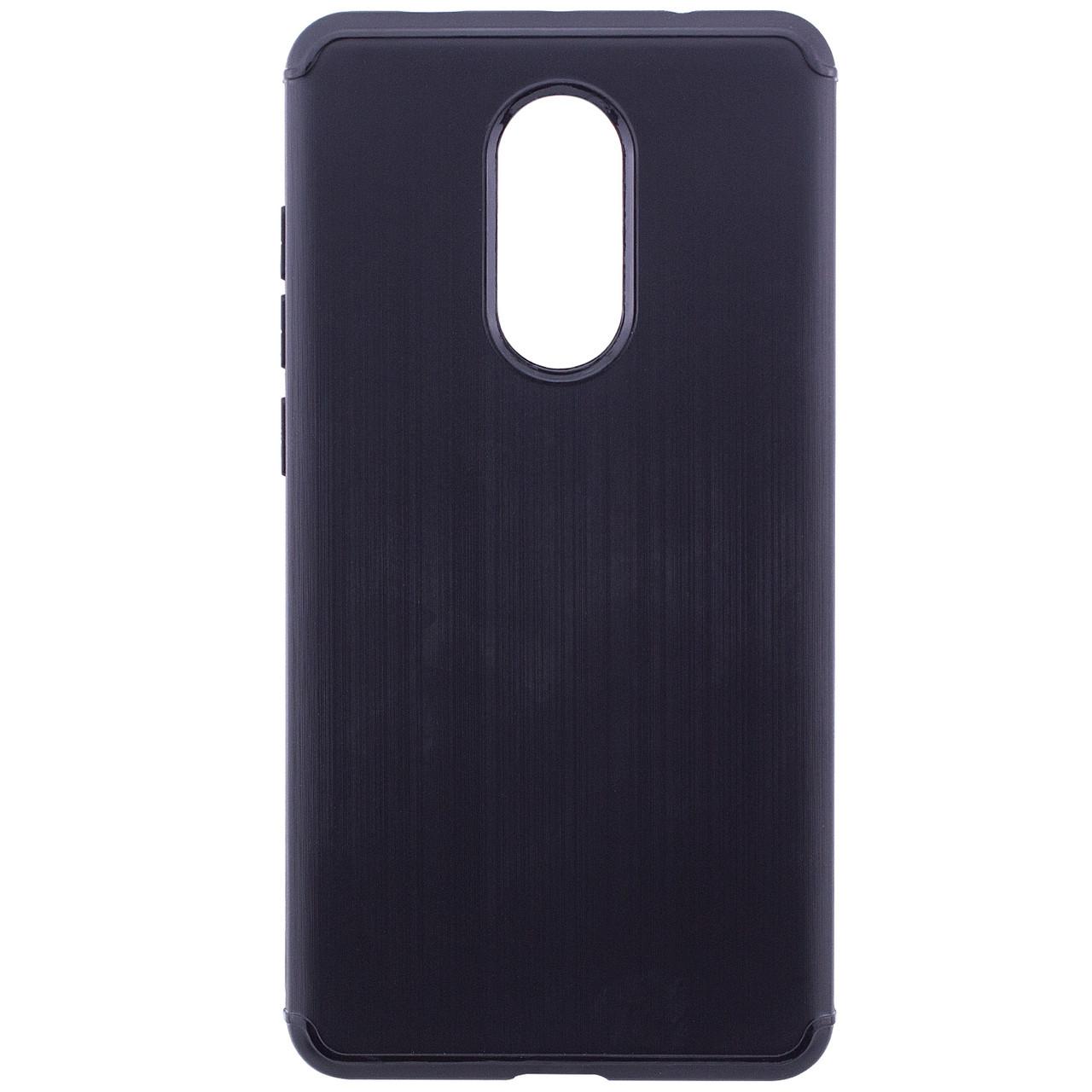 TPU чехол Metal для Xiaomi Redmi Note 4X / Note 4 (Snapdragon) (Черный)