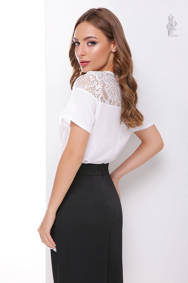 Белый цвет Блузки с коротким рукавом Аэлла