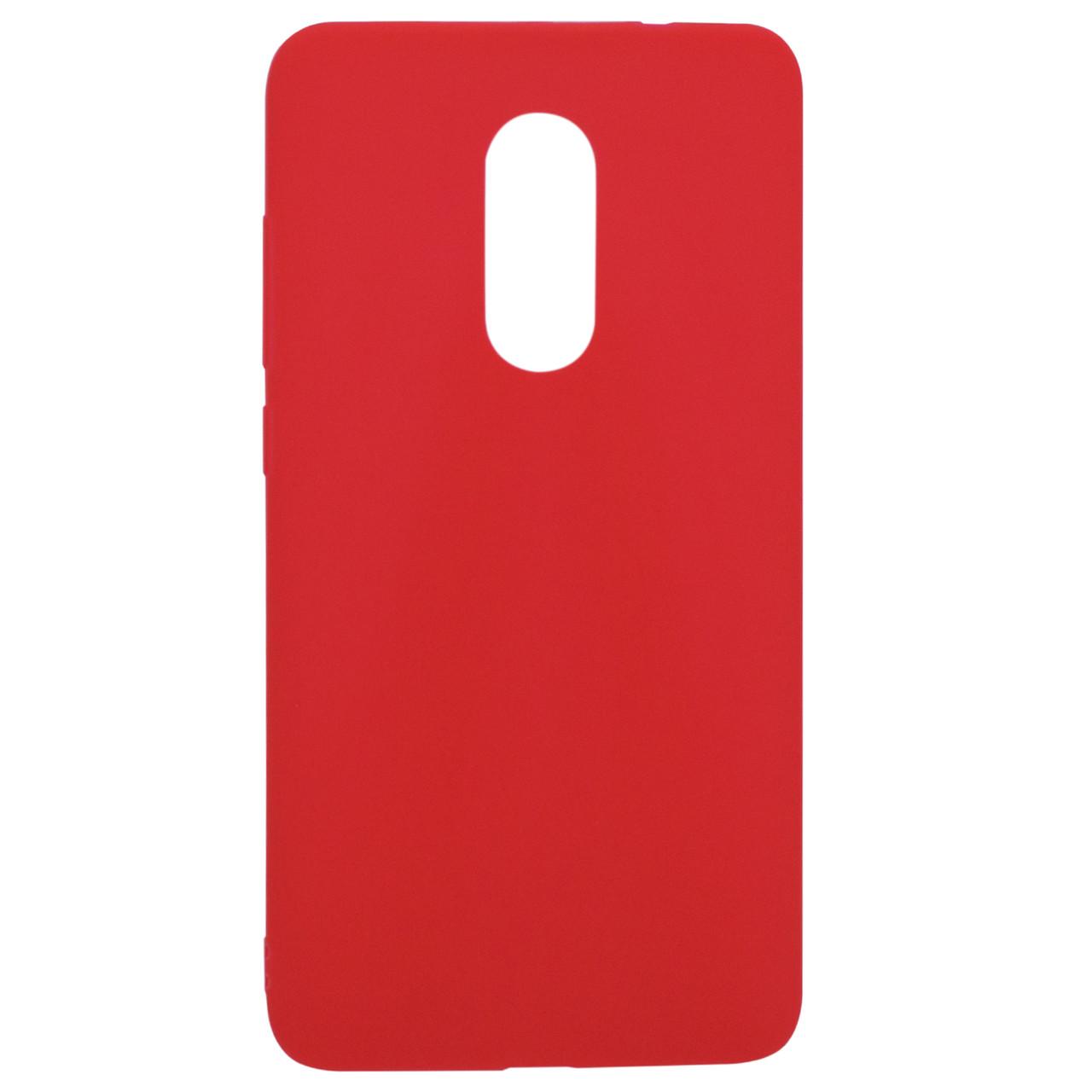 Силиконовый чехол Candy для Xiaomi Redmi Note 4X / Note 4 (SD) Красный