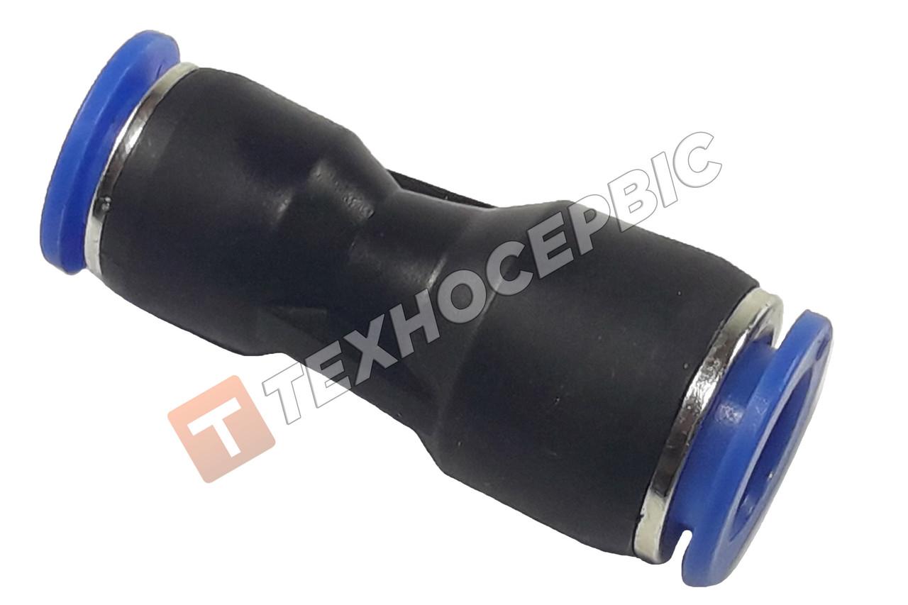 Соединитель тормозной трубки прямой переходной пластиковый (аварийный фитинг, спасатель,SPG12-10)Ø12мм- Ø10мм