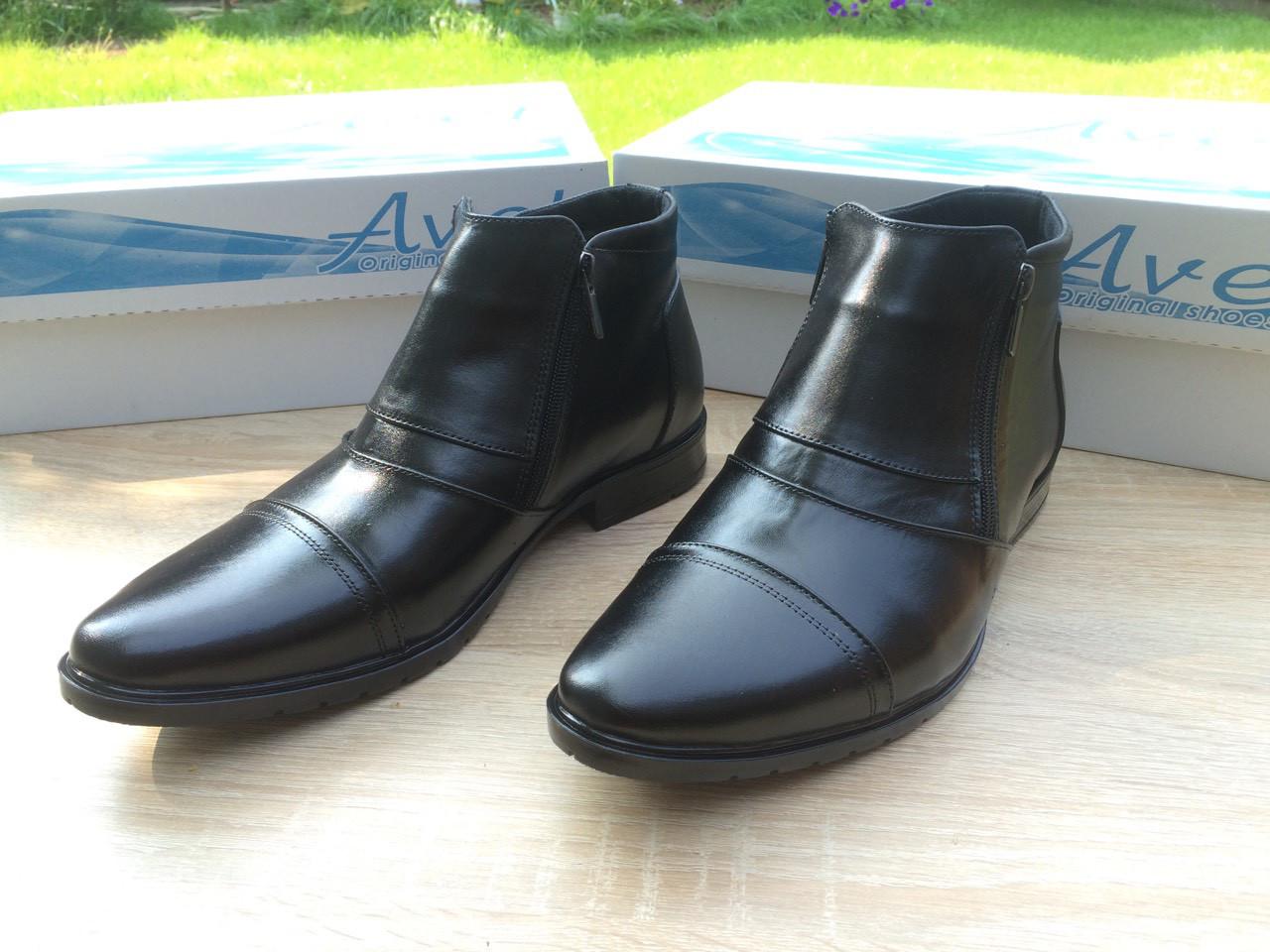 Мужские ботинки из натуральной кожи AVW 01