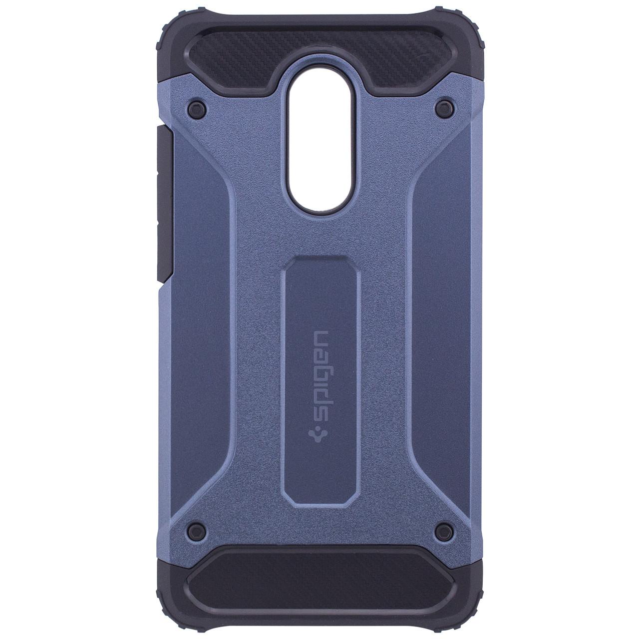 Бронированный противоударный TPU+PC чехол SPIGEN (HC) для Xiaomi Redmi Note 4X / Note 4 (SD) (Синий)