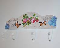 """Декоративна вішалка """"Butterflies"""" (дерево), фото 1"""