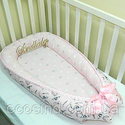 Гнездышко-кокон для новорожденного BabyNest —19