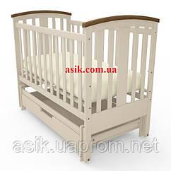 Дитяче ліжечко Woodman Mia, колір - слонова кістка.