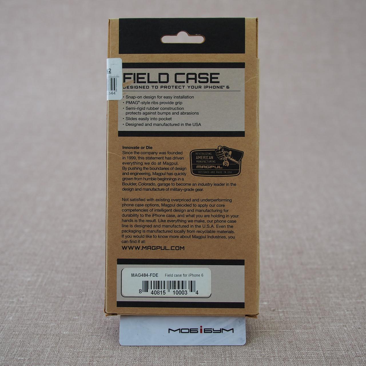 Чехол защитный MAGPUL Field case iPhone 6 flat dark e