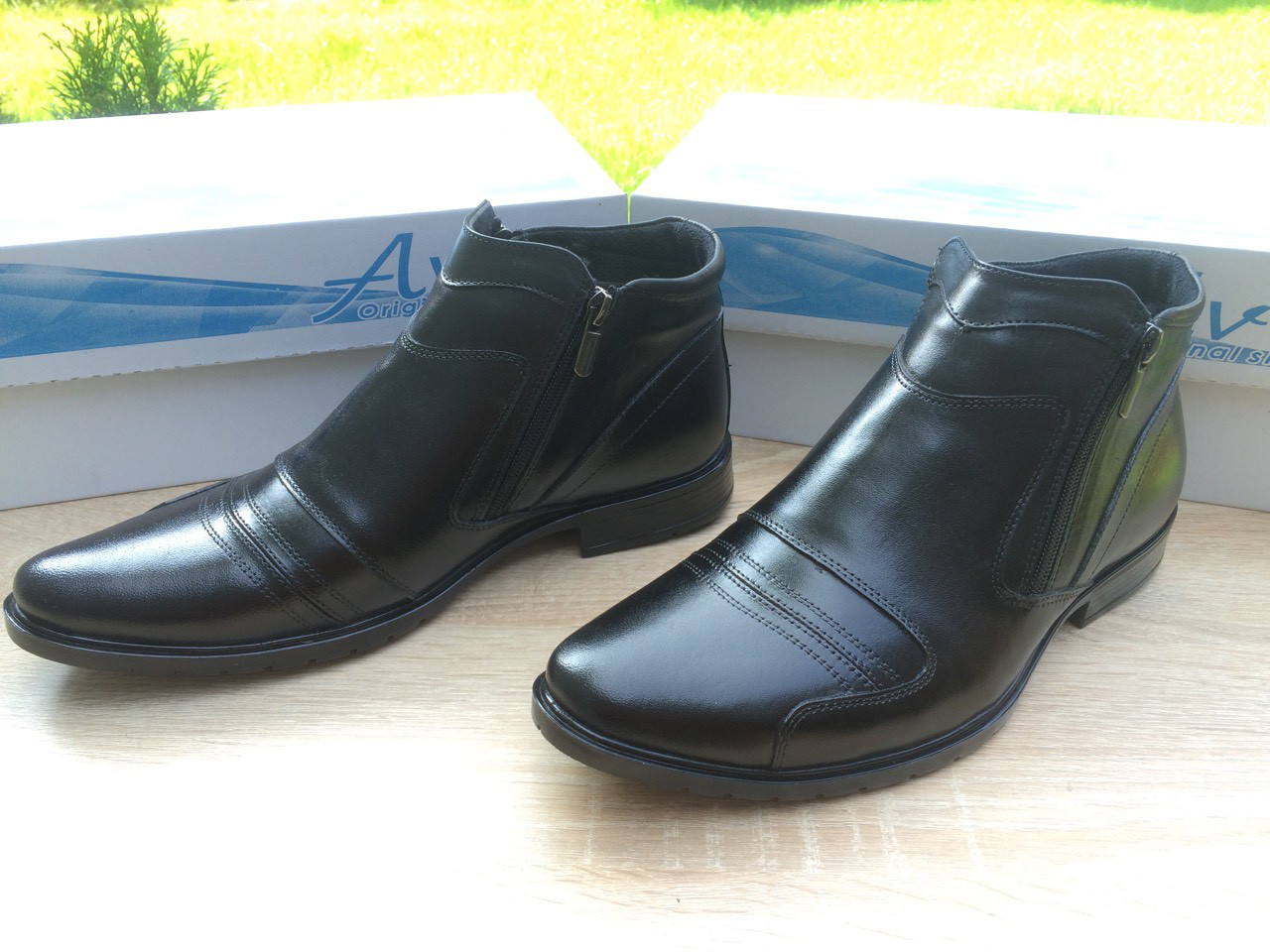 Мужские ботинки из натуральной кожи AVW 03