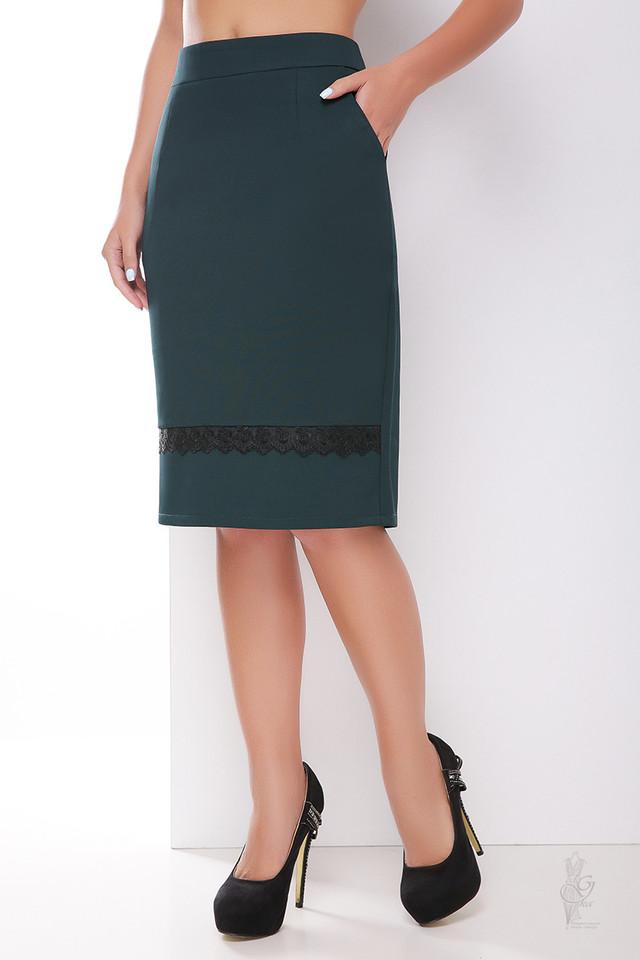 Цвет зеленый Узкой юбки Пола-кружево