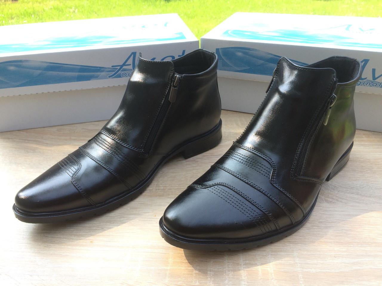 Мужские ботинки из натуральной кожи AVW 04