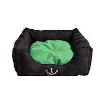 Лежак для собак и котов Noble Pet Henry 55 x 55 x 15 Черно-зеленый (H2114/55)