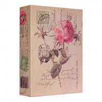 Книга сейф 18 см Цветы