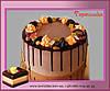 Шоколадный торт с подтеками