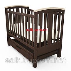 Дитяче ліжечко Woodman Mia, колір - шоколад.
