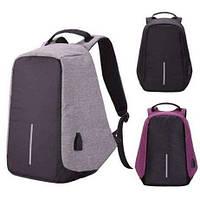 Рюкзак Bobby bag 1 протикрадій (black, grey, purple), фото 1