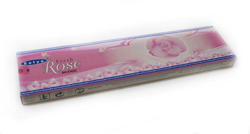 Благовония натуральные Свежая Роза, Satya FRESH ROSE, 20 шт. в упаковке