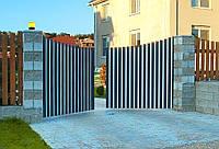 Распашные алюминиевые ворота сери ADS400