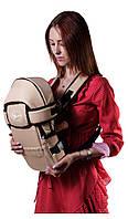 Рюкзак-кенгуру с капюшоном  №8 Умка темно-бежевый