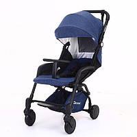 Детская коляска YOYA Care Синяя с черной рамой (20181116V-592)