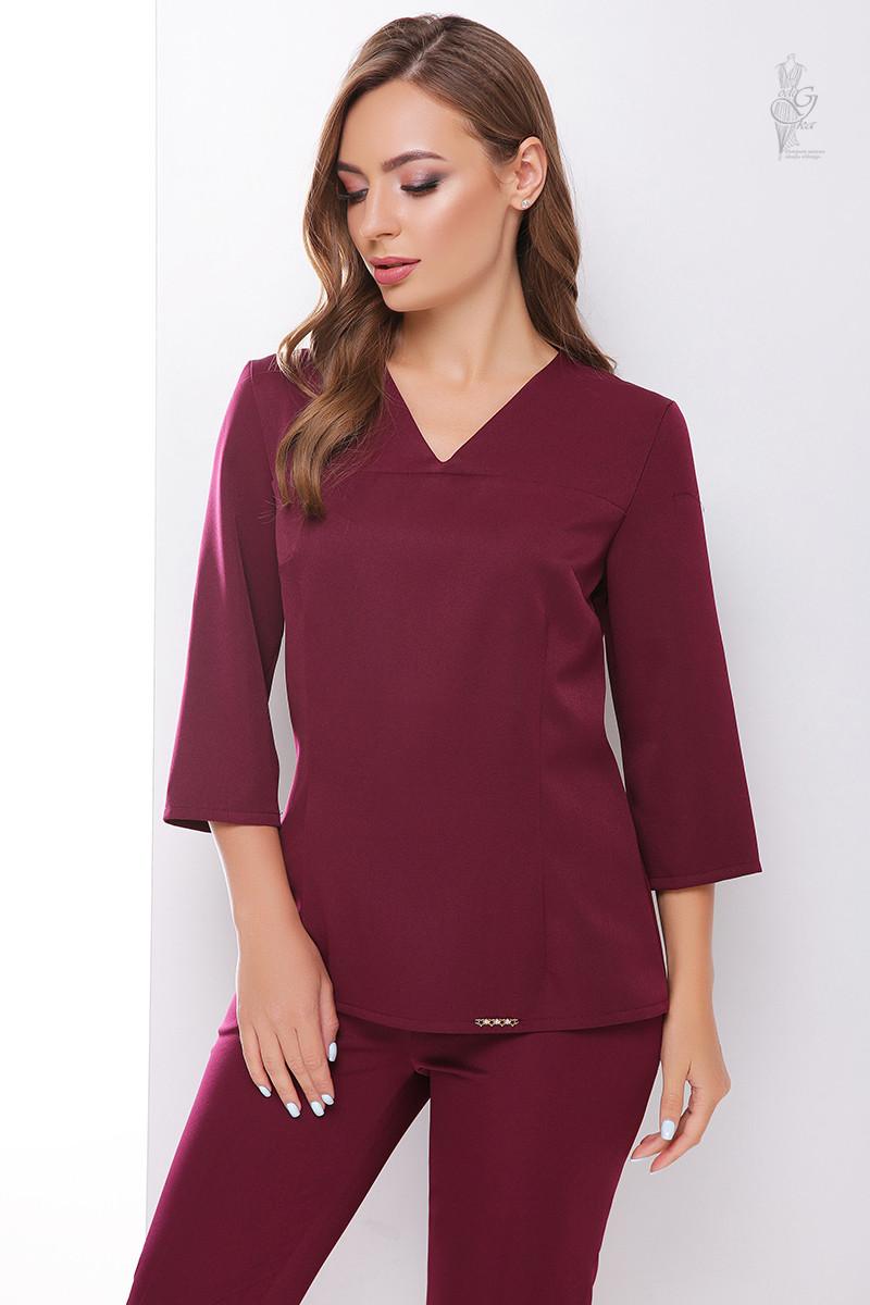 Блуза свободная Мирра с рукавом три четверти