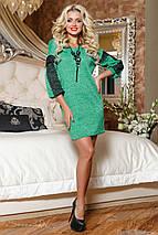 Женское ангоровое платье с гипюром на рукавах (2075-2069 svt), фото 2
