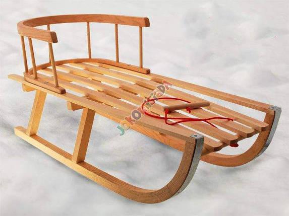 Санки деревянные,классические,со спинкой, фото 2