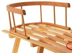 Санки деревянные,классические,со спинкой, фото 3