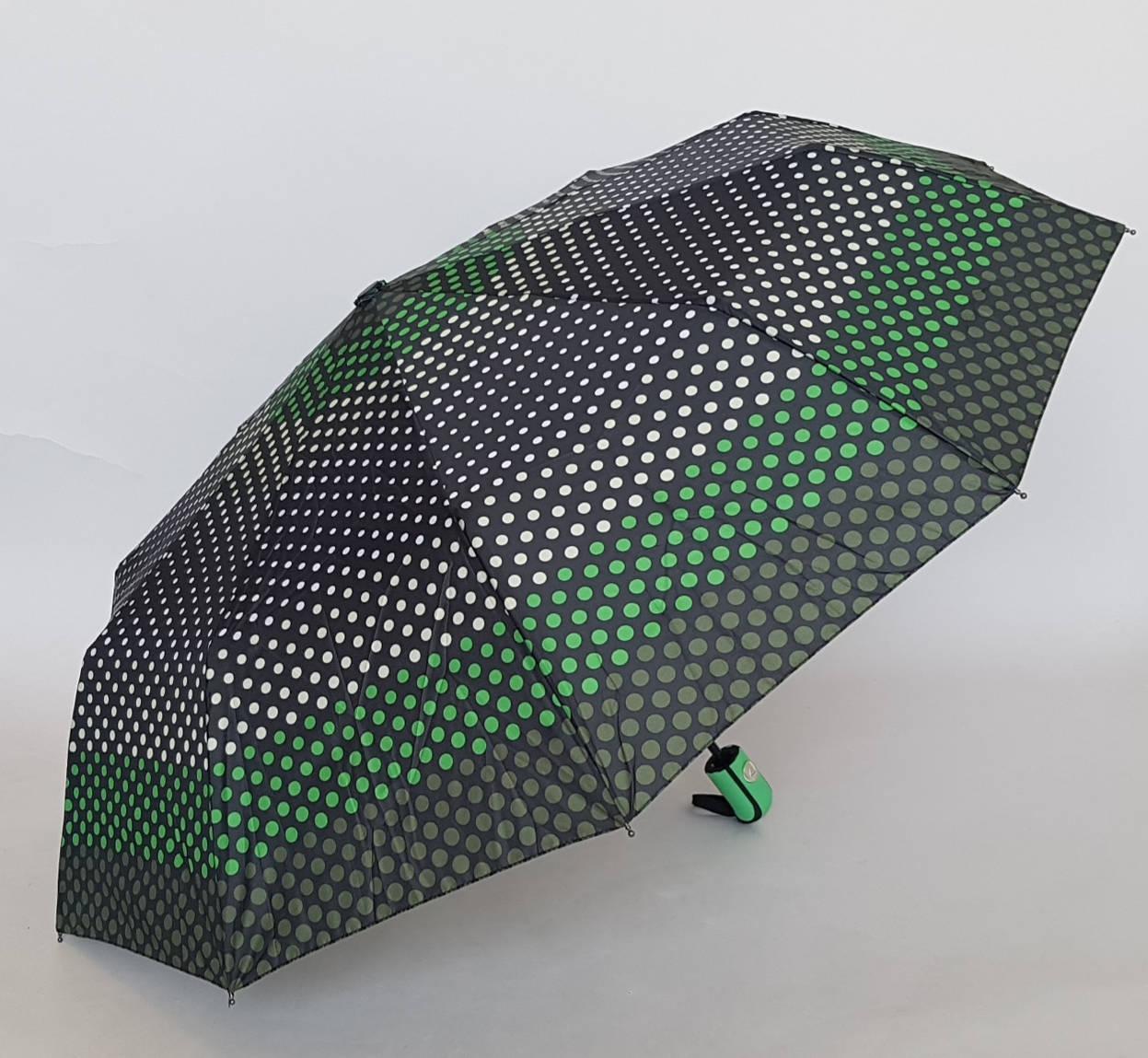 Качественный женский зонт в мелкий горошек
