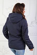 """Женская демисезонная куртка на синтепоне """"CONTINENT"""" с карманами и капюшоном, фото 2"""