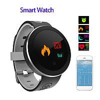 Смарт Часы Bakeey Q8 Pro чёрные  IP68 Цветной экран Датчик кровяного давления , фото 1
