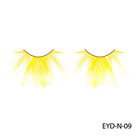 Ресницы декоративные накладные Lady Victory EYD-N-09 из натуральных перьев