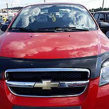 Дефлектор капота, мухобойка Chevrolet Aveo с 2006 г.в.(седан) VIP