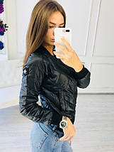 """Стеганая женская куртка-бомбер """"LACQUER"""" с карманами (3 цвета), фото 3"""