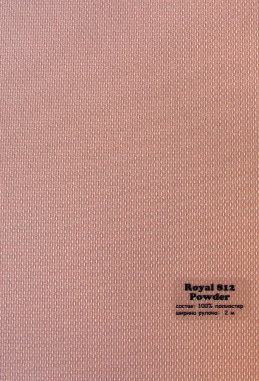 Рулонні штори Тканина Роял (Royal) Рожевий 812