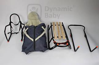 Санки Doti с толкателем,спальником,спинкой, 4 цвета, фото 2