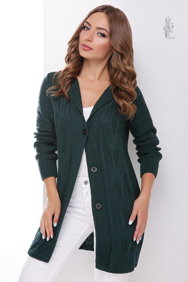 Зеленый цвет Красивой женской кофты кардигана Даная