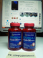 Puritan's Pride Omega-3 Fish Oil 1000 mg 100 softgels, фото 1