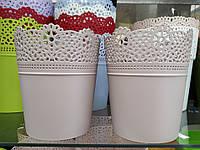 Горшок кружевной Lace Мокка, фото 1